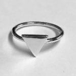 50 Solid Silver band with triangle design on top
