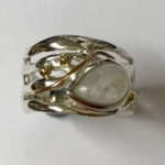Beautiful Silver Ring with a Teardrop Moonstone
