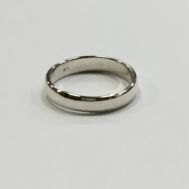 Plain Solid Silver band