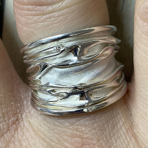 Solid Silver broad ring