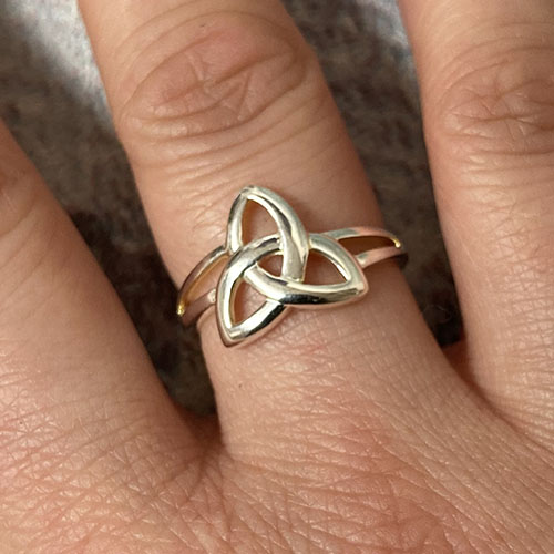 Silver Celtic design ring
