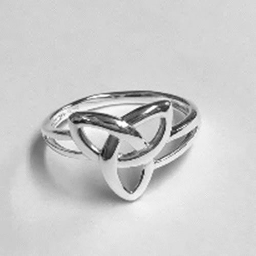 Silver Celtic design ring