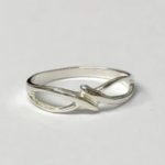 Silver Cross over ring
