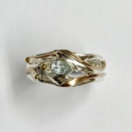 Silver Ring with Teardrop Blue Topaz