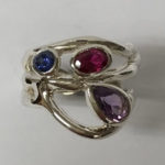 Silver Ring with a Teardrop Amethyst