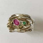 Silver Ring with an Oval Ruby