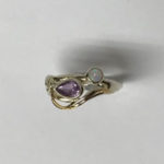 Silver ring with Goldfill detail