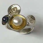 Silver ring with some Gold plating