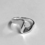 Solid Silver Wave design