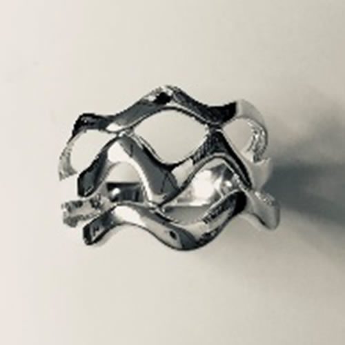 Solid Silver Zig Zag ring