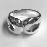 Solid Silver chunky ring