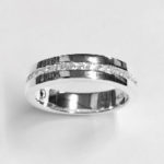 Solid Silver half Channel Band