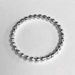 Solid Silver narrow beaded ring