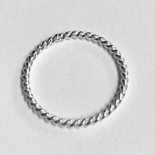 Solid Silver narrow rope design ring