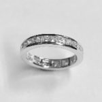 Square Cubic Zirconia 2.5mm Channel band