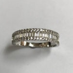 Stunning Silver Ring with small cubic zirconia edging