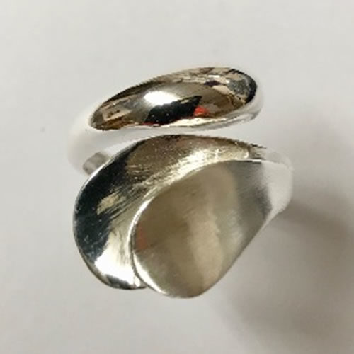 Stunning Solid Silver Ring with some matt satin finish