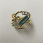 Yellow gold tourmaline ring