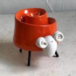 10.5cm small orange twist sheep
