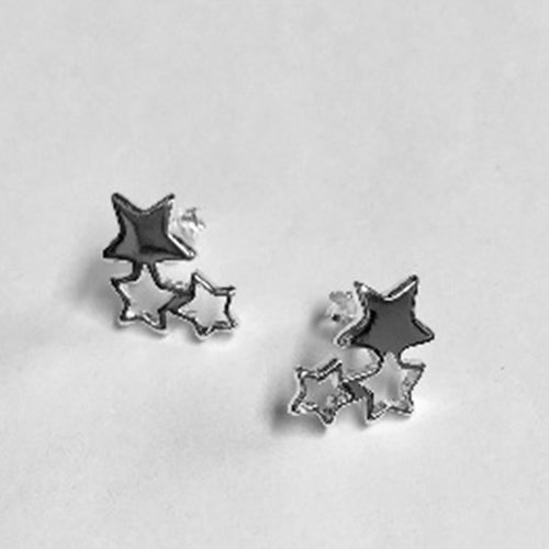 12mm spectacular three star stud earrings