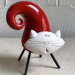 13cm red twist cat