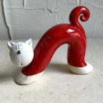14cm red stretch cat
