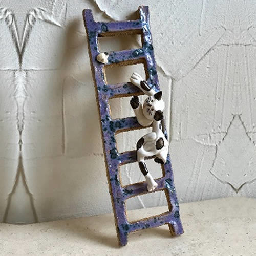 27cm ladder with cat climbing