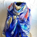 Fabulous vibrant colourful scarf with circles design