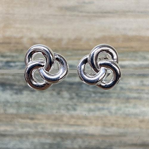 Silver Celtic Design Stud Earrings