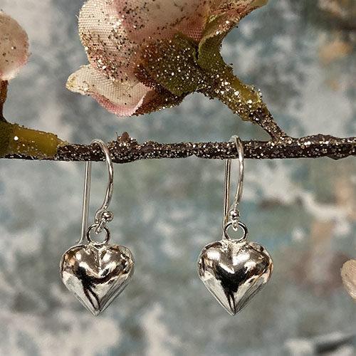 Sweet Small Heart Earrings Sterling Silver
