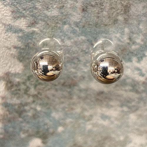 Round Silver Ball Studs