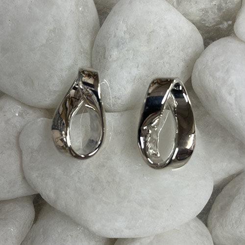 Knot Design Silver Stud Earrings