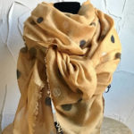 Light weight mustard coloured scarf