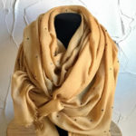 Long mustard light weight scarf