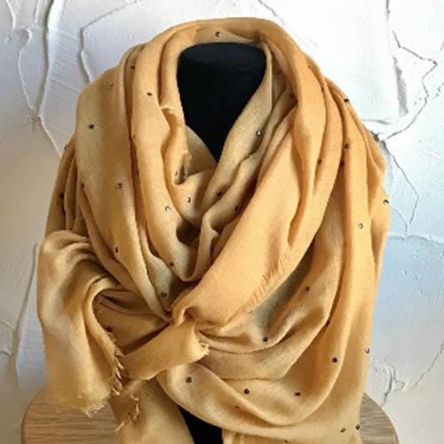 Long mustard light weight scarf