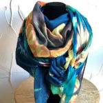 Multi coloured light weight scarf