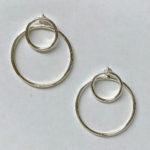 Stylish and minimalist double circle earrings