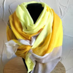 Yellow, grey and black light weight scarf