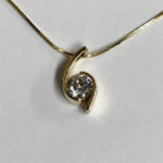 cusotm gold and diamond pendant