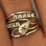 custom gold ring with diamonds