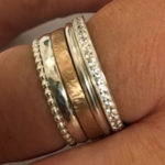 custom made yellow an dwhite gold band