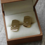 hand made custom gold cufflinks