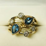 stunning original gold ring with diamonds
