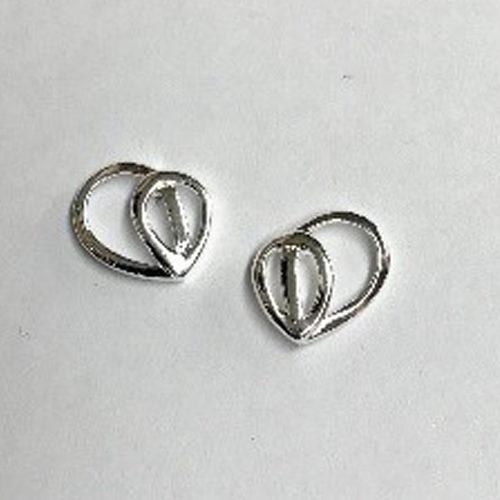 12mm sterling silver open design stud earrings