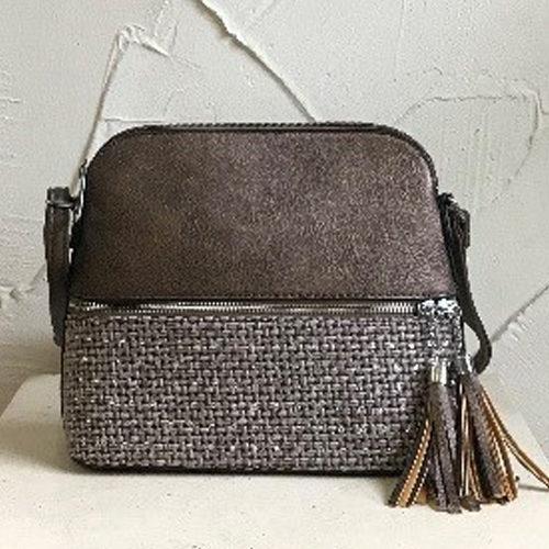 27cm x 21cm bronze coloured shoulder fashion bag