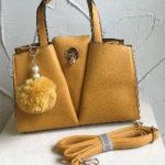 27cm x 21cm mustard fashion bag