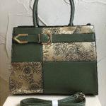 34.5cm x 27cm olive green fashion bag
