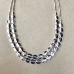 Double strand silver colour costume necklace
