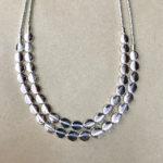 Double strand silver colour costume necklace