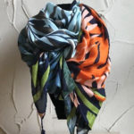 Fabulous long rectangular scarf with tassels